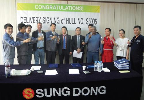 Lễ ký biên bản bàn giao tàu FSO PTSC Biển Đông01 giữa ...