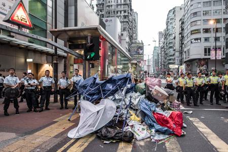 Cảnh sát Hong Kong (Trung Quốc) bắt 26 người biểu tình ở Mong Kok