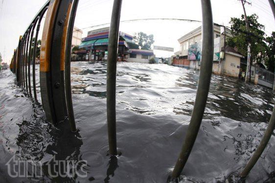 Sau mưa lớn, đường Sài Gòn ngập sâu, giao thông hỗn loạn - ảnh 5