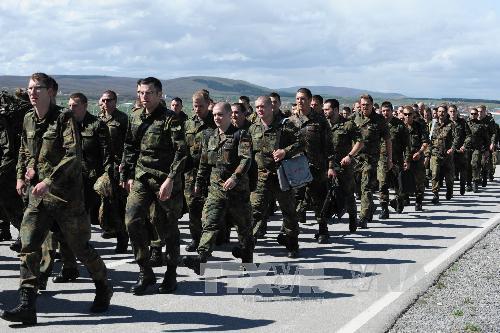 Binh sĩ Đức công tác tại lực lượng giữ gìn hoà bình NATO. Ảnh: AFP/TTXVN