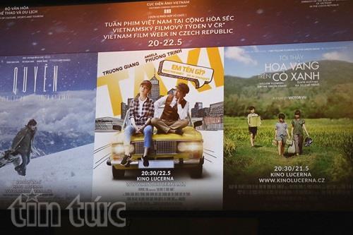 Áp phích Tuần phim Việt Nam tại CH Séc.