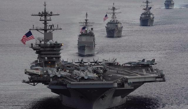Tàu chiến Mỹ xuất hiện trong khu vực tranh chấp trên Biển Đông khiến Trung Quốc giận dữ. Ảnh: Internet