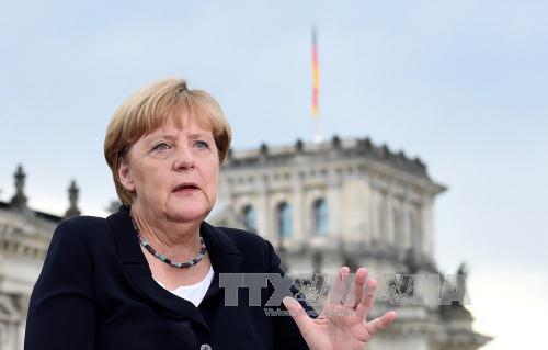 Thủ tướng Đức Angela Merkel trả lời phỏng vấn kênh truyền hình ARD tại thủ đô Berlin. Ảnh: EPA/TTXVN