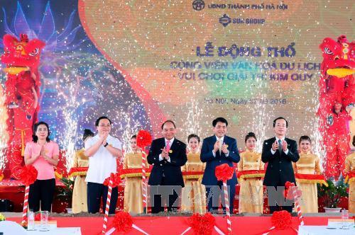 Thủ tướng dự Lễ động thổ Dự án Công viên Kim Quy tại Hà Nội - Ảnh 2
