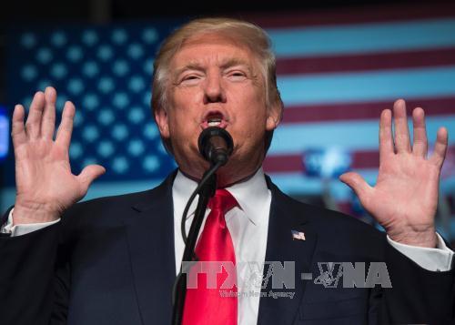 Tổng thống đắc cử Mỹ Donald Trump phát biểu tại một sự kiện ở Hershey, bang Pennsylvani ngày 15/12/2016. Ảnh: AFP/TTXVN