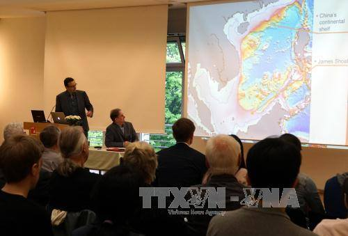 Quang cảnh buổi hội thảo. Ảnh: Phạm Thắng - Thanh Bình (PV TTXVN tại Đức)