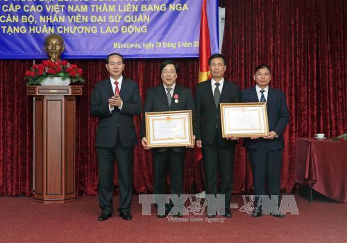 Chủ tịch nước Trần Đại Quang tiếp Chủ tịch Đảng Cộng sản Liên bang Nga - Ảnh 2