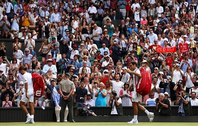 CĐV Wimbledon thất vọng vì ngày thi đấu kết thúc nhanh kỷ lục