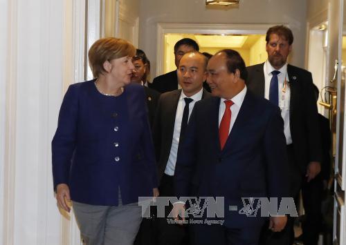 Thủ tướng Nguyễn Xuân Phúc hội đàm với Thủ tướng Đức Angela Merkel - Ảnh 2
