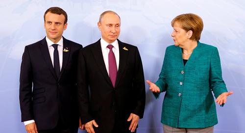 lanh dao nga, phap, duc trao doi ve van de ukraine ben le hoi nghi thuong dinh g20. nguon: sputniknews.com