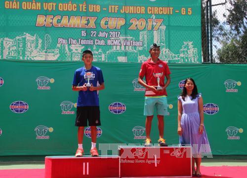 Việt Nam giành ngôi vô địch đơn nam Giải Quần vợt quốc tế trẻ U18