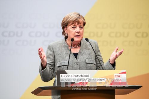 Thủ tướng Đức Angela Merkel tại một sự kiện ở Dortmund, Đức ngày 12/8. ẢNh: THX/TTXVN