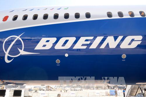bieu tuong boeing tren may bay boeing 787-10 dreamliner tai le bourget (phap) ngay 18/6. anh: afp/ttxvn