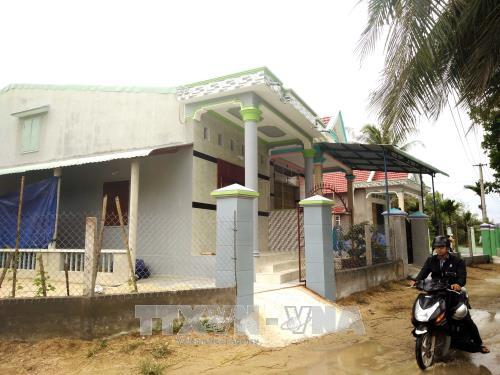 Khu tái định cư của người dân vùng lũ quét xã Mỹ Chánh được xây dựng khang trang (Bình Định). Ảnh: Nguyên Linh/TTXVN