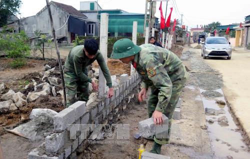 Kỷ niệm 73 năm Ngày thành lập Quân đội nhân dân Việt Nam: Quân đội chung sức xây dựng nông thôn mới