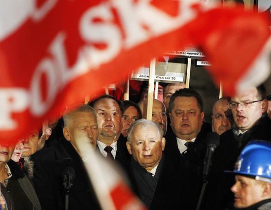 Ông Jarosław Kaczyński, lãnh đạo đảng Luật pháp và Công lý của Ba Lan. Ảnh: AP