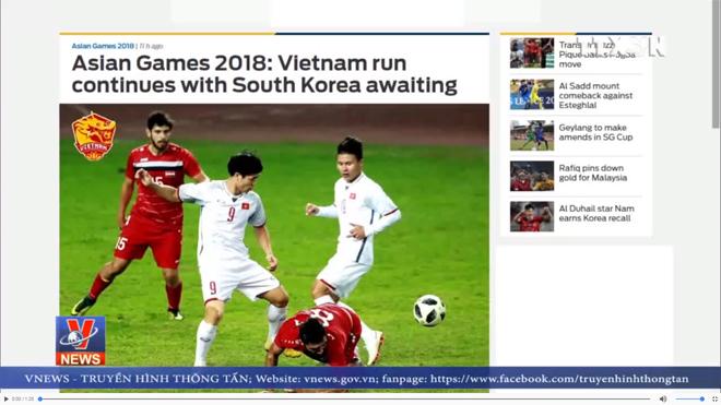 Báo chí thế giới ca ngợi chiến thắng của Olympic Việt Nam